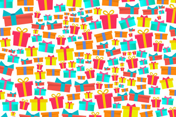 Christmas / birthday wallpaper - can be used for Christmas wrapping paper, birthday card, wallpaper, poster, greeting card, banner etc. ( Gifts & presents theme )