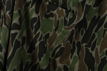 Camouflage fabric texture and  background