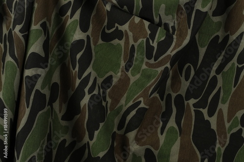Camouflage Fabric Texture And Background Stock Photo And