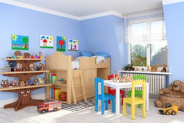 Kinderzimmer, Spielsachen, Spielzeug, Junge, Kind