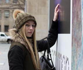 Young beautiful Russian girl in America