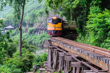 Fotobehang Lavendel Death Railway, during the World War II at Kanchanaburi Thailand.