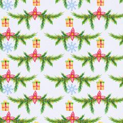 Watercolor Christmas pattern