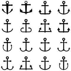 anchor icon set