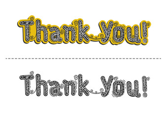 Inscription Thank you very much , vector