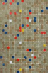 Coloured mosaic tiles. Background texture
