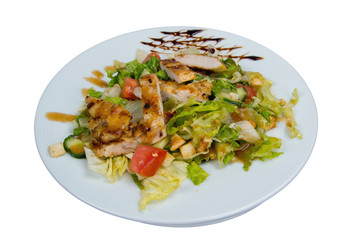 Vegetable salad with chicken fillet.