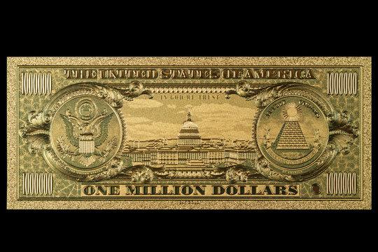 Souvenir American Gold Banknote $ 1 Million Dollars