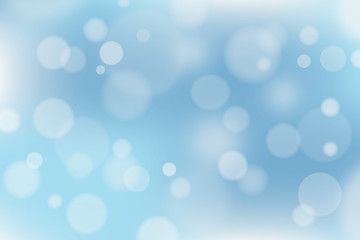 Abstract blue and white background with bokeh effect