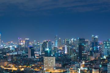 Beautiful Bangkok urban city skyline.
