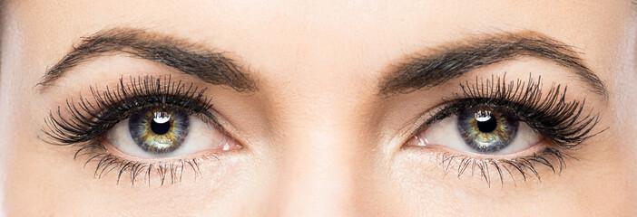 Beautiful female eyes close up.