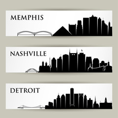 United States of America city skylines