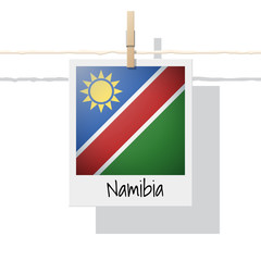 African country flag collection with photo of Namibia flag , vector , illustration