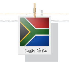 African country flag collection with photo of South Africa flag , vector , illustration