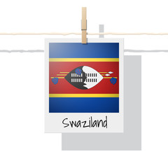 African country flag collection with photo of Swaziland flag , vector , illustration