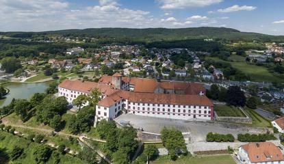 BAD IBURG, GERMANY - JUNE 5, 2017: Aerial view of Iburg castle