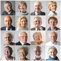 Smiling elderly people