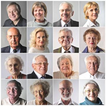 Smiling elderly people