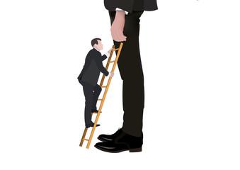 persona con scala sale alta personalità