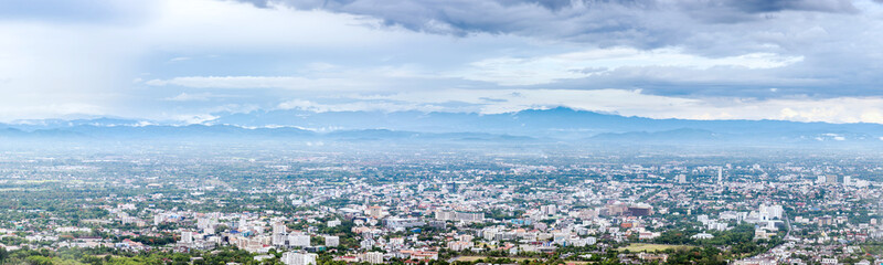 The Aerial Panorama View of Chiang Mai City, Thailand