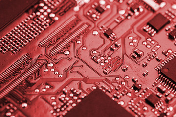 close-up of electronic circuit board.