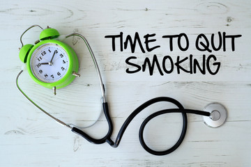 Background of Health Composition- Time To Quit Smoking Concept