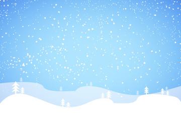Snow landscape cartoon background