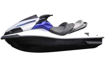 Modern blue jet-ski.