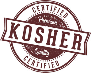 Certified Kosher Food Label Stamp