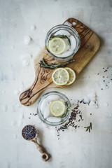 Lavender Lemonade with Rosemary