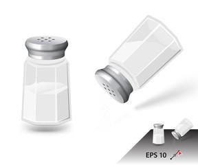 Salt shaker isolated on white background. Ready for your design. Vector illustration