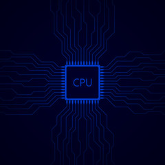 CPU on the motherboard