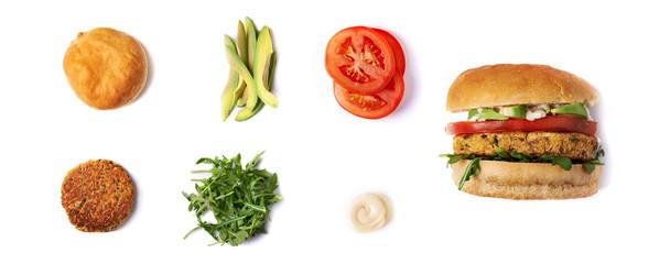 veggie chickpie burger