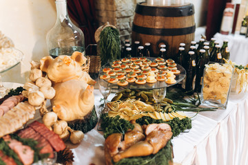Wedding meat buffet