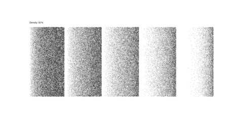 Stipple Linear Gradient draft quality - 50% Density