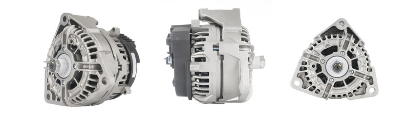 New alternator isolated on white