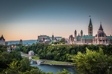 Recess Fitting Canada OTTAWA, ONTARIO / CANADA - AUGUST 06 2017: PARLIAMENT HILLS. MORNING