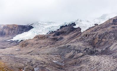 Wall Mural - Glacier Cordillera Vilcanota scenic landscape mountains ridge peaks Peru.