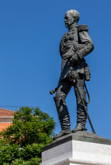 Statue of the 1st Duke of Terceira in Lisbon, Portugal, sculpted by Simoes de Almeida in 1877. He served as a Marshal of the Portuguese Army during the Portuguese Restoration War.