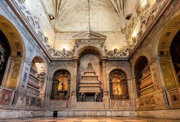 Side chapel in the Jeronimos Monastery in Belem.