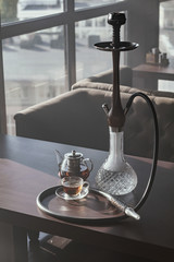 Stylish hookah glass and tea kettle