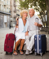 Mature spouses enjoying joint vacation
