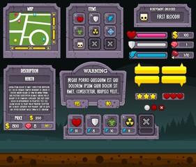 Zombie Graveyard Game UI Set