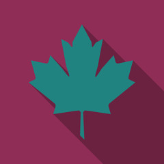 Maple leaf vector icon. Maple leaf vector illustration. Canada vector symbol maple leaf clip art. Red maple leaf.