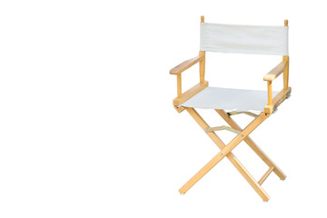 The director's chair is separated from the white background.