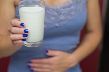 Ótimo conceito de alergia alimentar, alergia a leite, lactose, caseína.