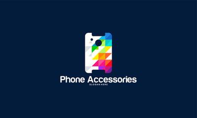 Modern Phone accessories logo designs, Phone Case logo template