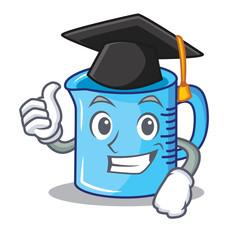 Graduation measuring cup character cartoon