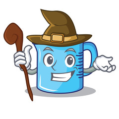 Witch measuring cup character cartoon