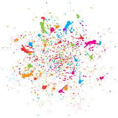 abstract vector splatter color background. illustration vector design